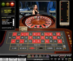 Live roulette met virtuele tafel
