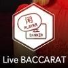 Speel live baccarat