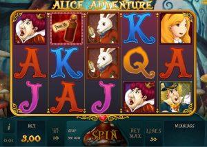 Alice Adventure is een van de slots gebaseerd op films