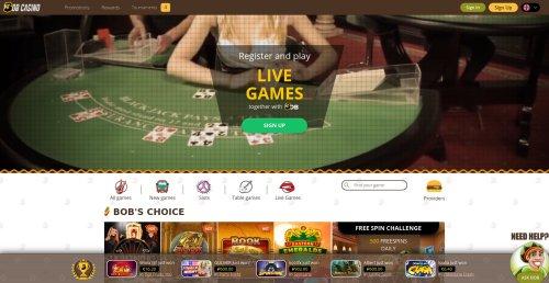 livecasino.nl review Bob casino screenshot