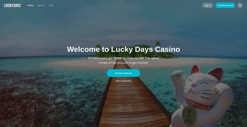 livecasino.nl review Lucky days screenshot