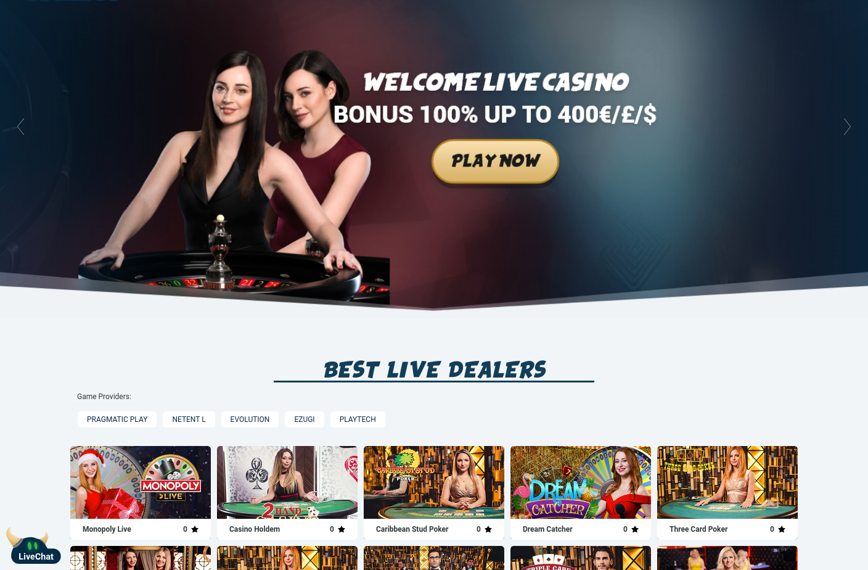 svenbet live casino screenshot mei 2020