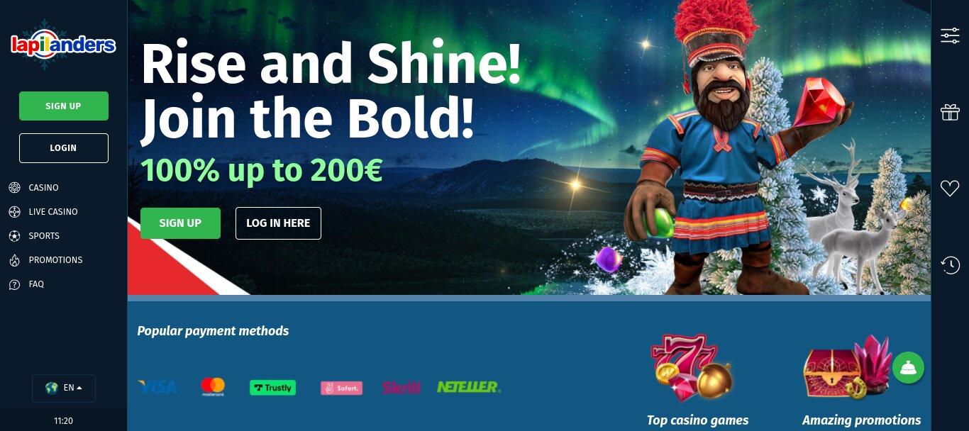 lapilanders live casino review