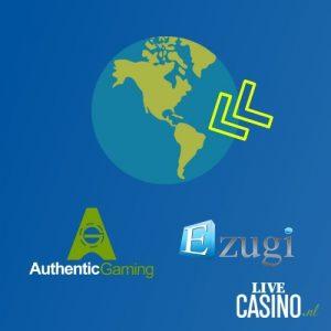 LiveCasino.nl post Authentic Gaming en Ezugi opmars latijns amerika featured