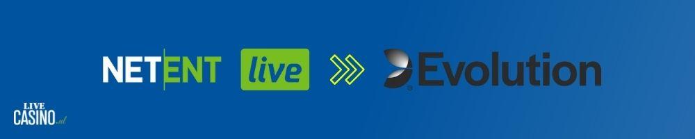LiveCasino.nl post overname Netent live door Evolution
