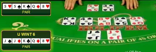 Kaarten live Casino Hold'em